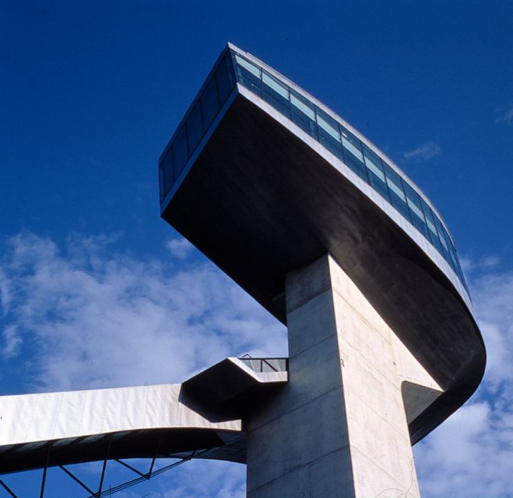 Bergisel Ski Jump - Architecture - Zaha Hadid Architects (you can see the close resemblance to the Capitol Hill Residence she designed for model Naomi Campbell and her billionaire husband)