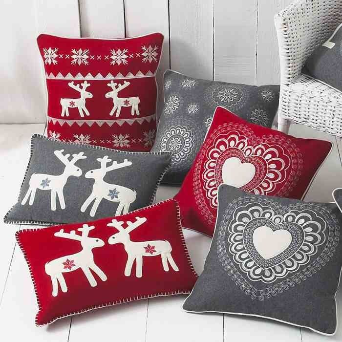 These Christmas scatter cushions are great to cuddle up on the sofa with #homeware #inspiration