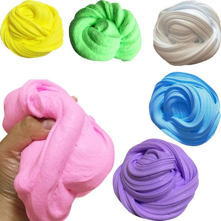 2017 New Arrival Funny DIY Cotton Slime Clay 3D Fluffy Floam Slime Scented Stress Relief No Borax Education Craft Mud Toy