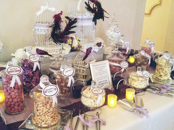Delicious Candy Buffet | A beautiful wedding idea, a great treat for you're guests | Eschol Park House