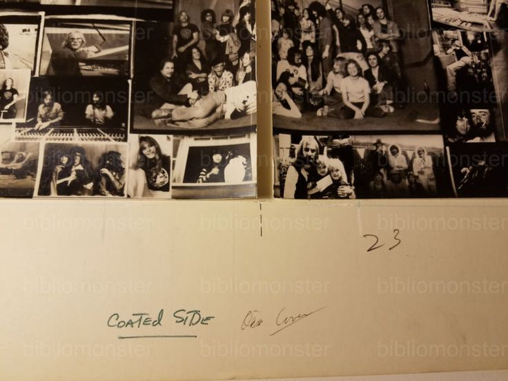 1976 ORIGINAL RUMOURS ALBUM GATEFOLD INNER MOCK UP ARTWORK FLEETWOOD MAC / NICKS