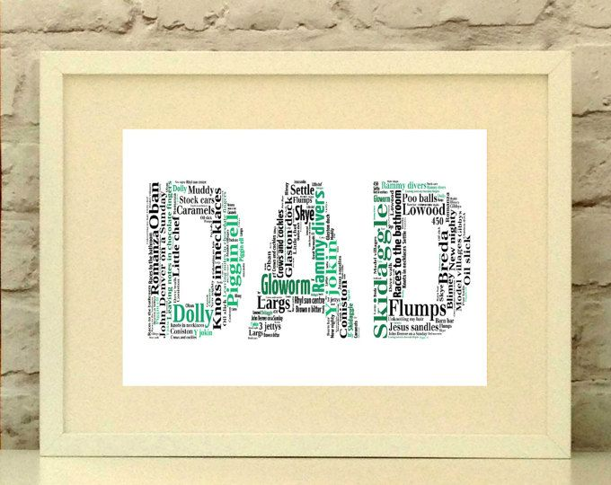 Dad - Personalised Print Ideal for Father's day - Father of the bride - Dad's birthday