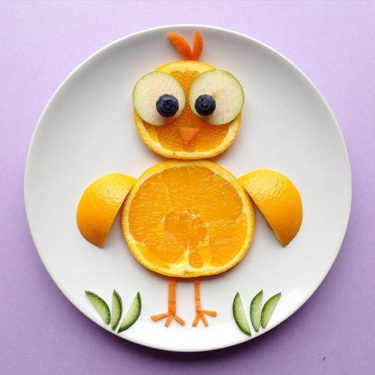 fruit bird by @creativefun4you