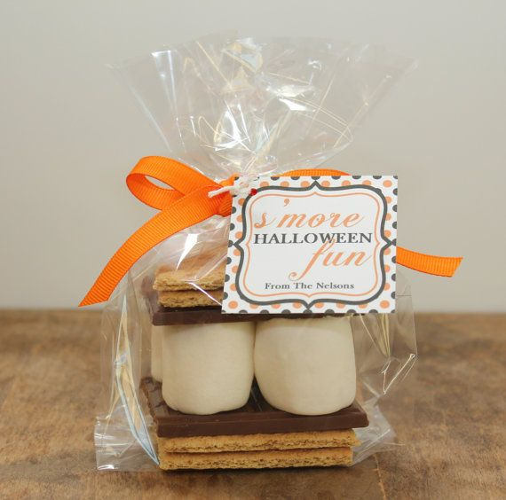 12 S'mores Halloween Treat Kits Polka Dot Design by thefavorbox, $18.00