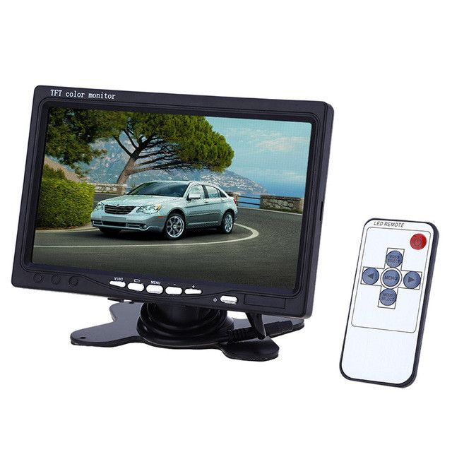Car Rear View Monitor 7 Inch TFT LCD 234 x 480 Pixel Screen with Remote Contr+7 IR LED Lights Night Vision Car Rear-view Camera