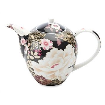Maxwell & Williams Kimono Teapot 1.25l Black    Now Only $52.49    Inspired by intricate Japanese floral designs Maxwell and Williams have brought out their Kimono fine bone china range. With floral and fine gold detailing this 1.25L teapot comes in a gift box.        Maxwell & Williams      Kimono fine bone china      1.25L Teapot      Floral and gold details      Gift boxed