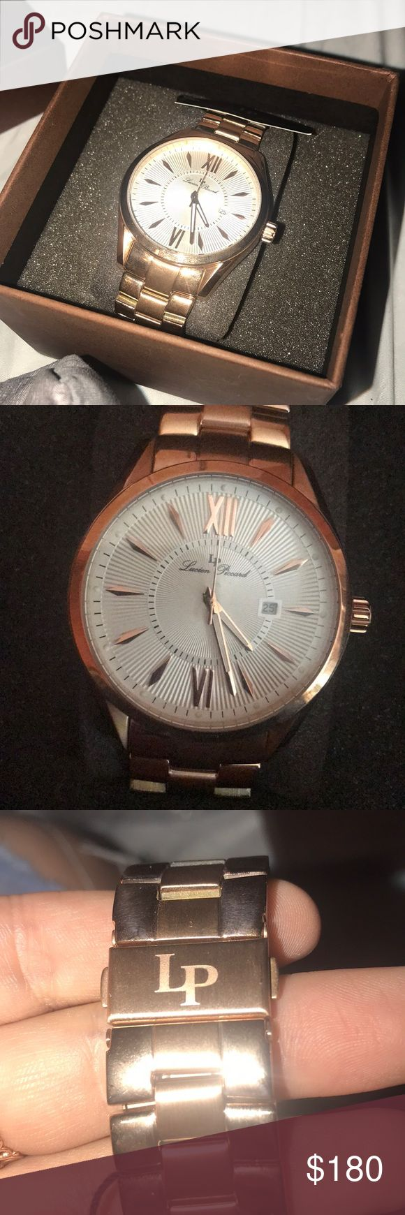 Rose Gold Watch!! Brand new with tags Has never been worn Still in perfect working condition, it just needs a new battery!!  Paid over $450 for it!! Lucien Piccard Accessories Watches