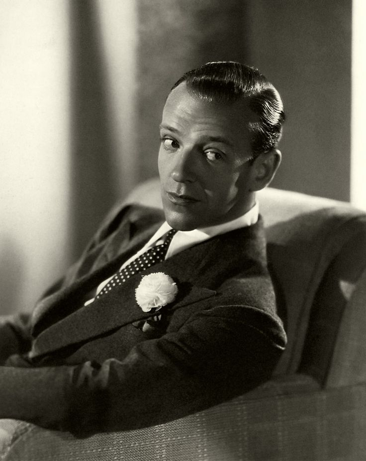 Fred Astaire - I had such a crush on him growing up, and yes I know he could be my great-grand-father.