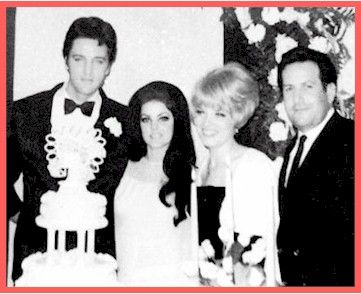 "Joe Esposito was Best Man at Elvis  Priscilla's wedding in Las Vegas. May 1, 1967.  Picture from Joe's book ""Good Rockin' Tonight""."