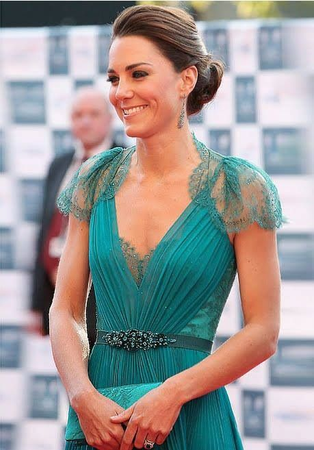 Princess Kate wearing Teal!