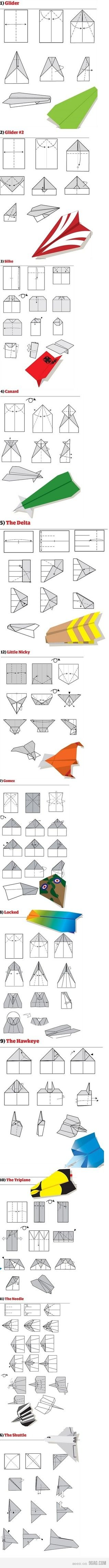 Paper airplane instructions.