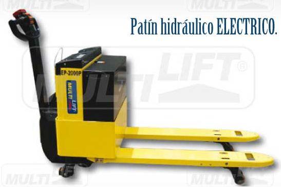 Patines eléctricos e hidráulicos-eléctricos se encuentran aquí, encuentra el modelo que necesitas con nosotros: http://www.multilift.com.mx/patines/patines-electricos/