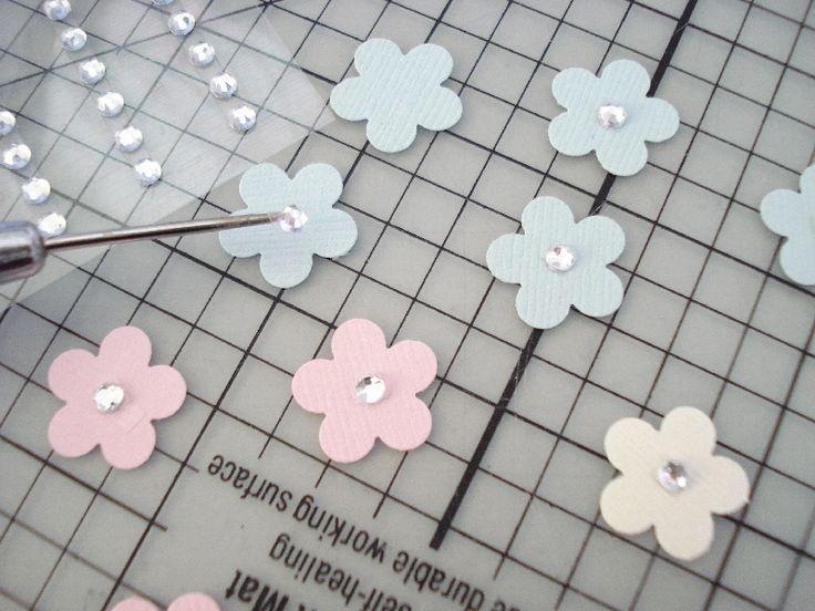 32.お花のクラフトパンチで花束のバースデーカード | 簡単手作りカード                                             Chocolate Card Factory