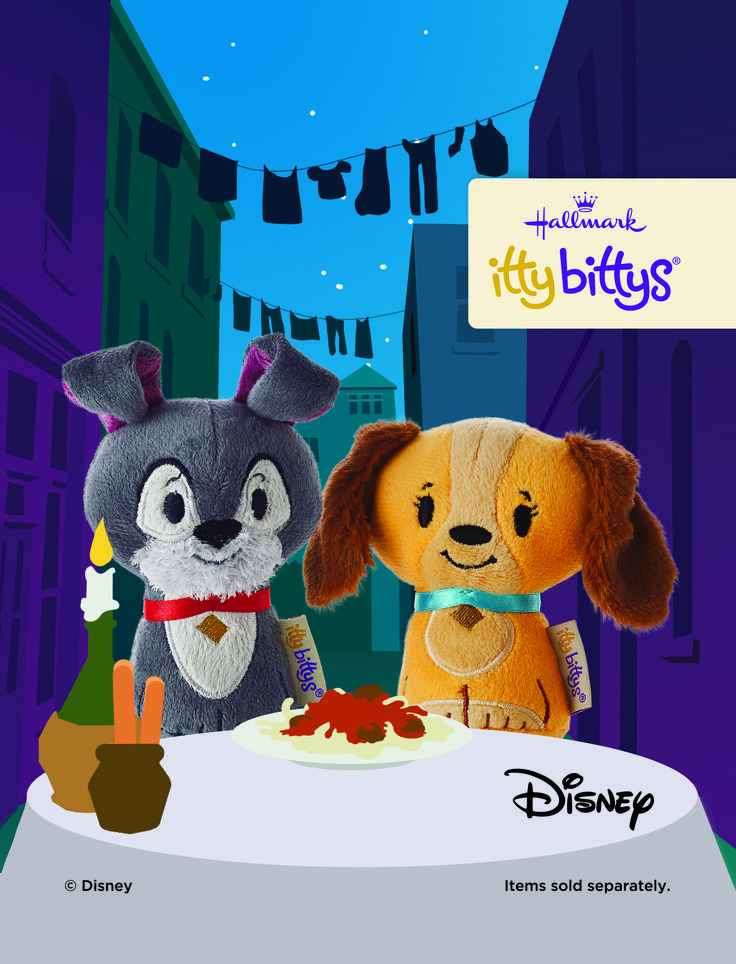 True romance is always a classic, like these Lady and the Tramp itty bittys. #ittybittys @influenster @hallmark