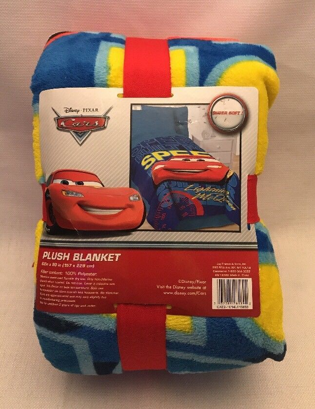 Disney Pixar Cars Soft Plush 100% Polyester Blanket 62in x 90in (157cm x 229cm) #Disney
