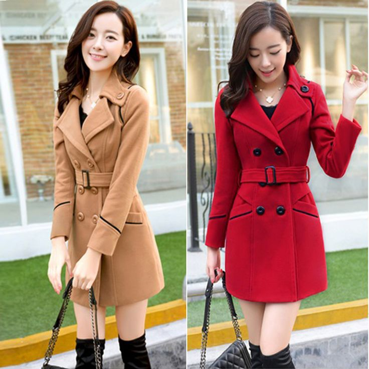 зимнее пальто женщин 2016 шерстяные длинное пальто куртки для женщин женская-Таобао