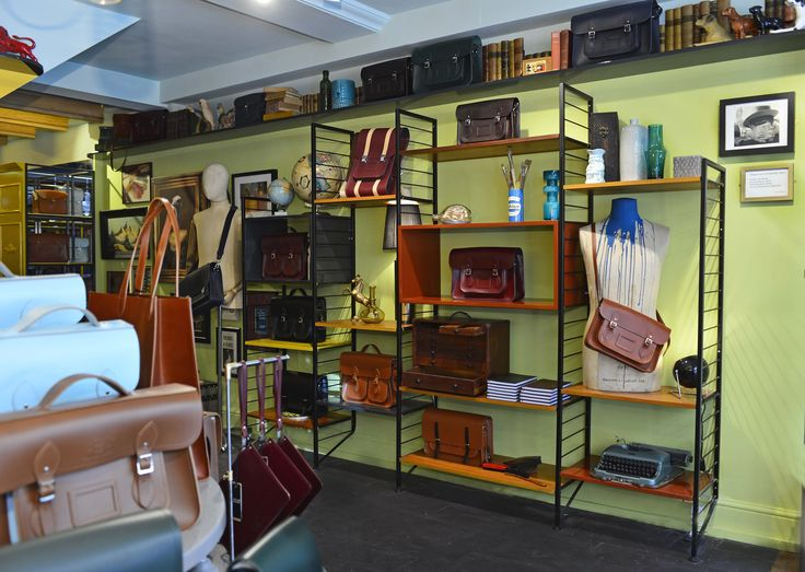 Ladderax Shelving System With A Variety Of Eclectic Props Image Courtesy Cambridge Satchel Company