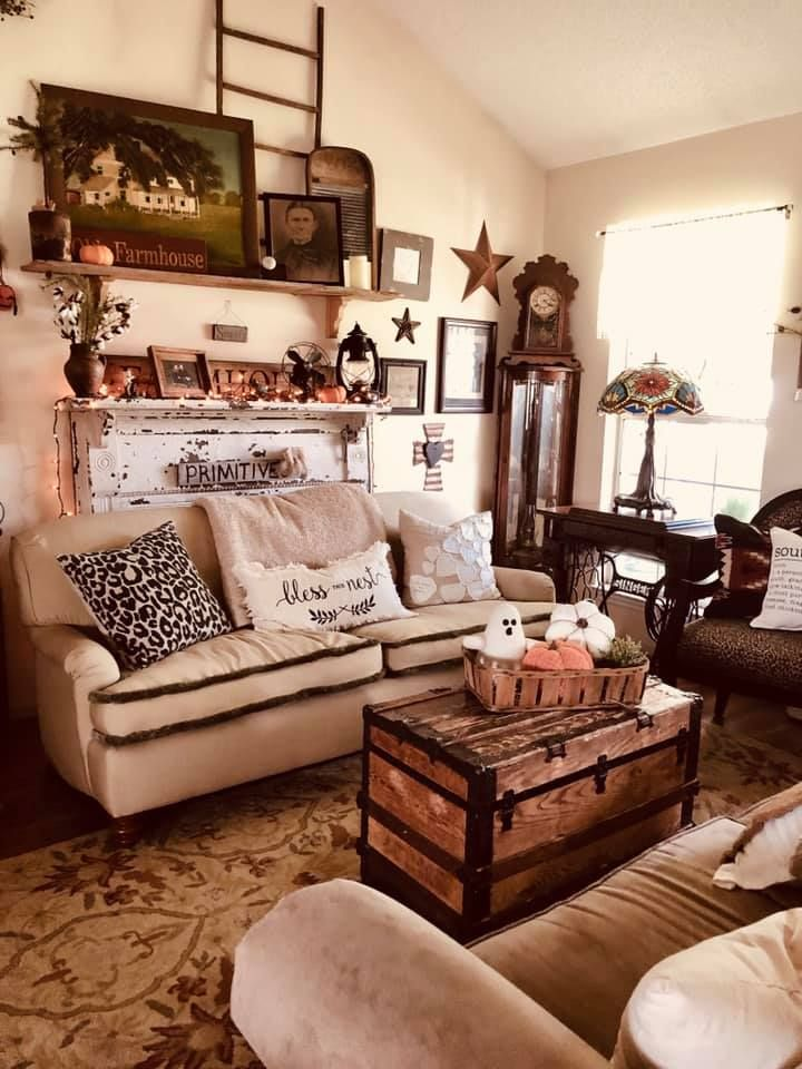 Photo From Melissa R Primitive Living Room Primitive Decorating Living Room Farm House Living Room