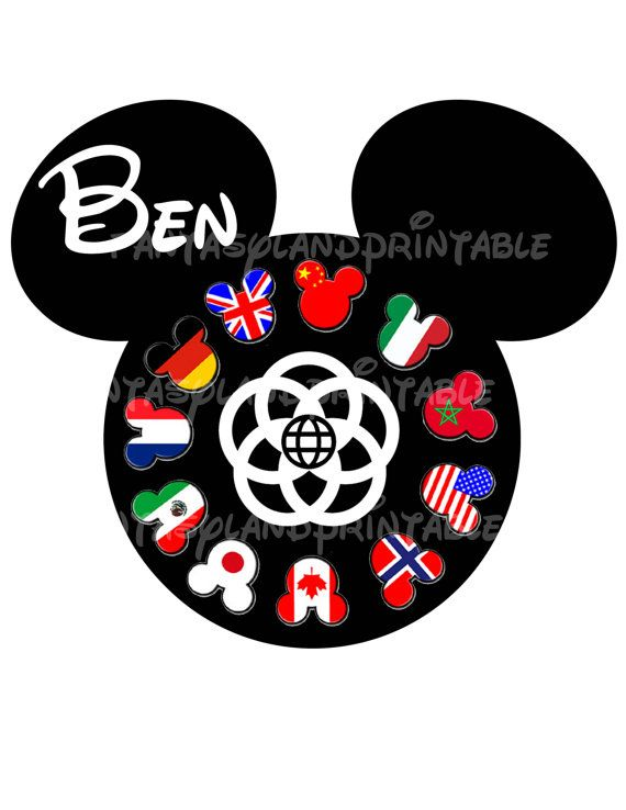 Mickey Mouse Epcot  for DIY Printable Iron Transfer family  Disney trip Applique Vacation Shirt World Showcase Vacation Trip