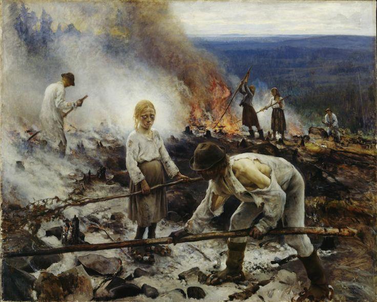 Raatajat rahanalaiset (Kaski) // Eero Järnefelt (1893)