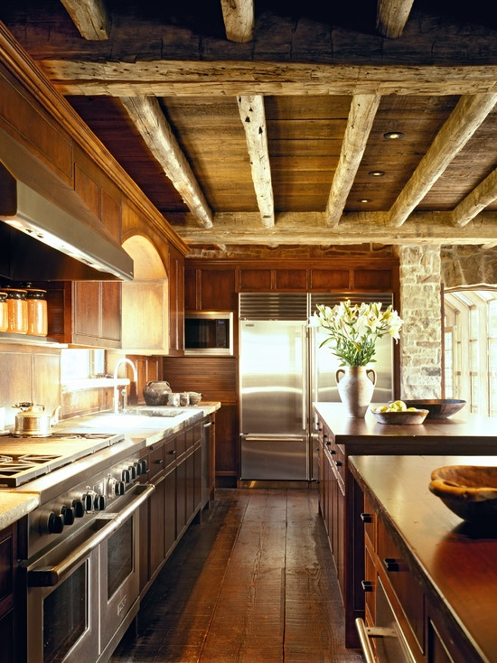 Kitchen....I've always loved the exposed beams!:)