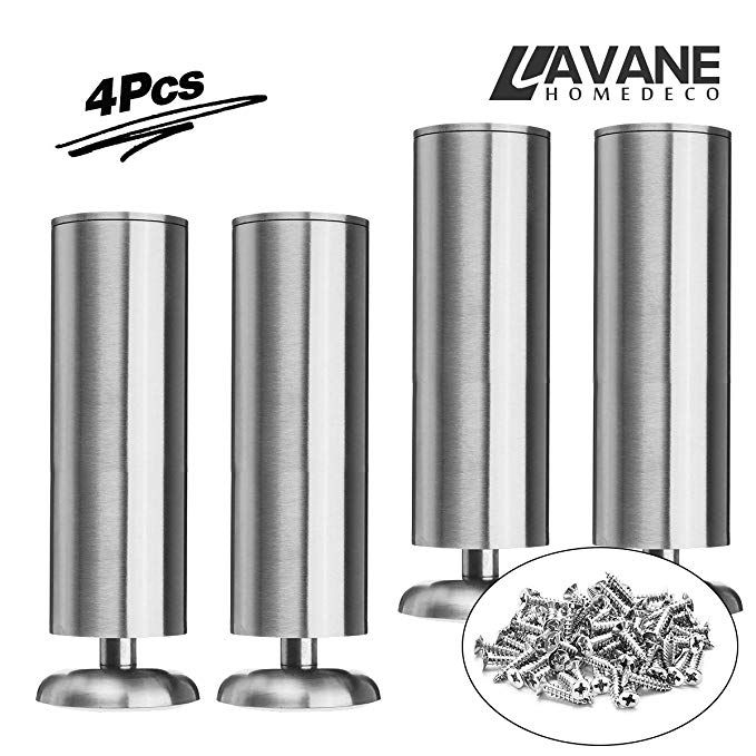 Amazon Com 12 Inch 30cm Furniture Legs La Vane Set Of 4 Stainless Steel Cabinet Feet For Cupboard S Furniture Legs Stainless Steel Cabinets Kitchen Couches