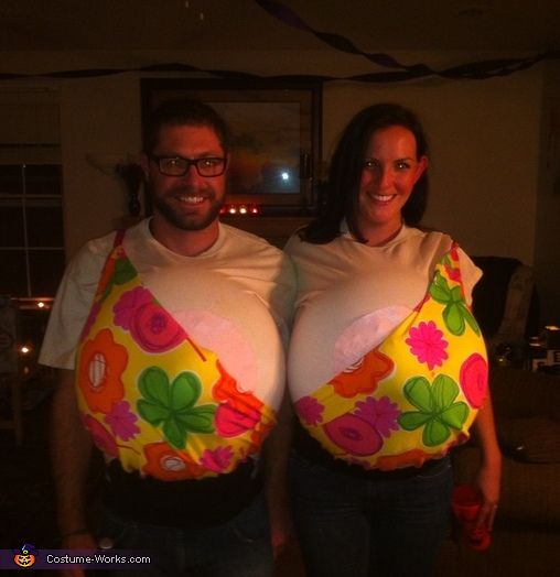 Boobs! Halloween Costume Contest via @costumeworks - hilarious, as long as you never leave each others side...