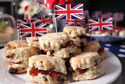 English scones and jam