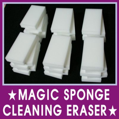 Who knew?  Apparently Mr. Clean Magic Erasers are just this stuff called Melamine Foam.  You can buy it in bulk online for WAY less than Mr. Clean brand name!