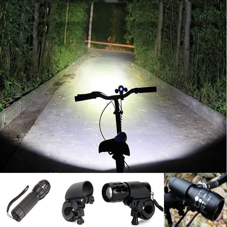 Bicycle LED lantern - 2000 lumens flashlight Torch - Front Light Clip Mount Bicycle
