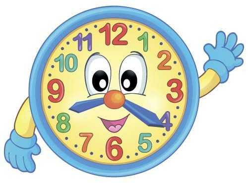 Cartoon clock baby design vector 02