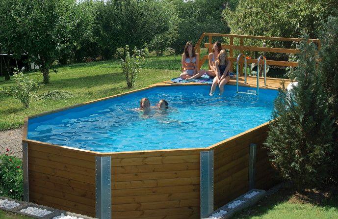 holzpool weka korfu - schwimmbecken aus holz, swimmingpool, Terrassen ideen