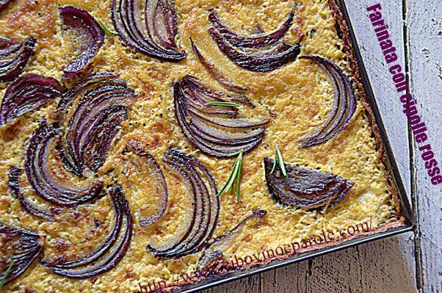 Farinata con cipolle rosse. #ricetta di @annamolino