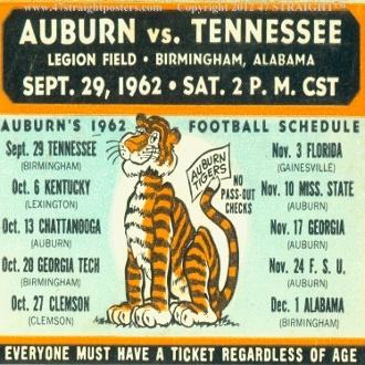 1962 Auburn Football Ticket Coasters.™ Best Cyber Monday Gifts! Best Cyber Monday Football Gifts! #cybermonday #bestcybermondaygifts #47straight http://www.bestcybermondaygifts.com/ best cyber monday gifts for football fans!