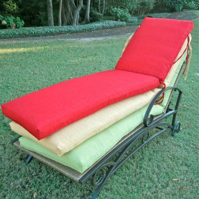 Blazing Needles Outdoor Chaise Lounge Cushion Kingsley Stripe Ruby - 93475-PRO-72-REO-17, BZN028-32