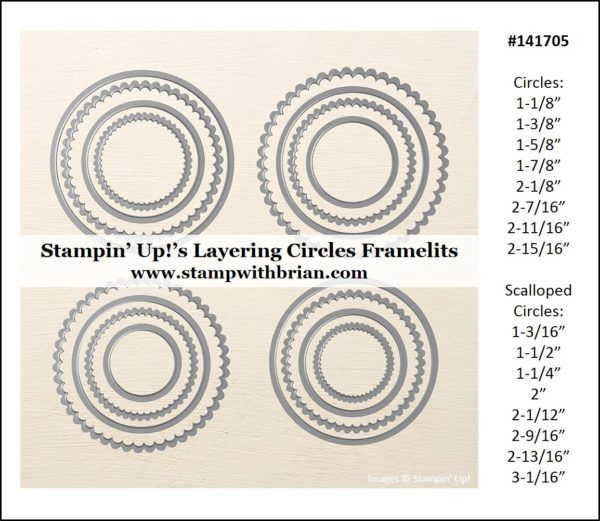 chrome hearts clothes Measurements for Stampin   Up   s Layering Framelits
