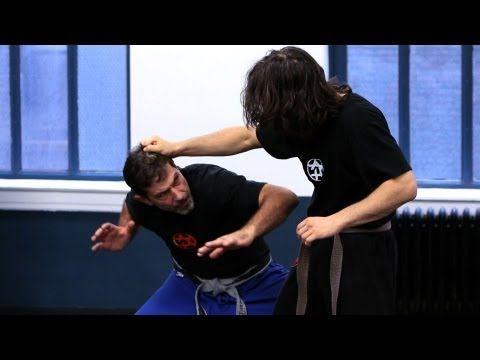 Krav Maga Defense against Hair Grab from Side with a Pull   Krav Maga Techniques #hairgrab