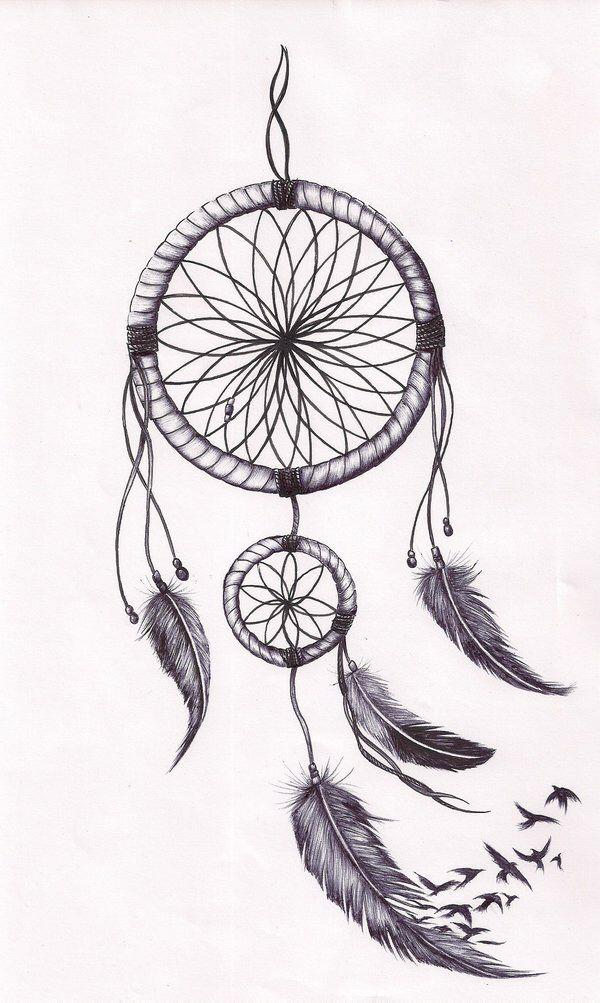Dreamcatcher - feathers falling....