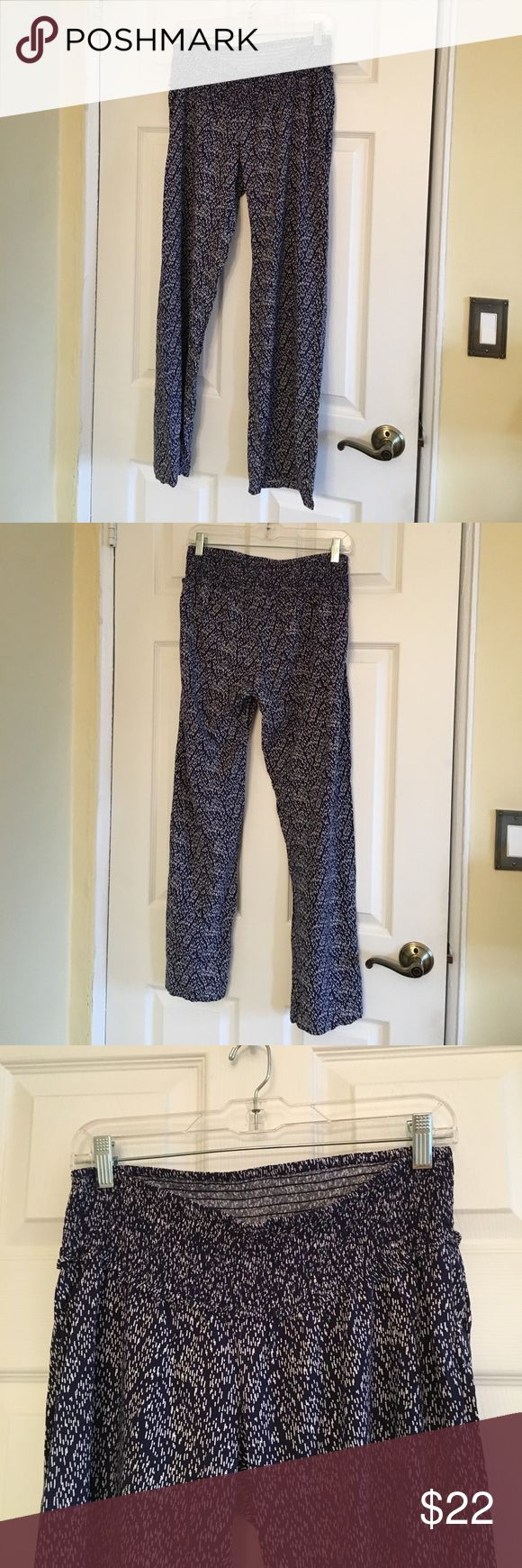 Jessica Simpson Maternity Pants Super soft navy pants with a stretchy elastic waistband. In great condition! Jessica Simpson Pants Wide Leg