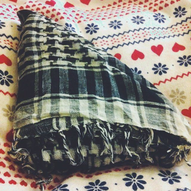 Black and white checked chunky scarf. Squared scarf but can be worn however! Offers ☺️ £0.10