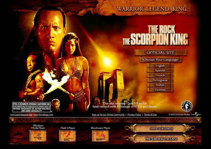 The Scorpion King website in 2003