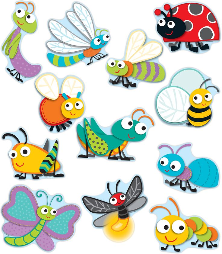 """Buggy"" for Bugs Cut-Outs-hese assorted shaped cut-out are fun additions to any classroom setting and can be used for more than decoration. Great for sorting activities, calendar activities, game pieces, name tags, reward cards, and much more. These are perfect to brighten up cubbies, walls, and bulletin boards too. This 36-piece pack includes an assortment of bold colors and designs measuring about 5.75"" x 5"" and printed on card stock."