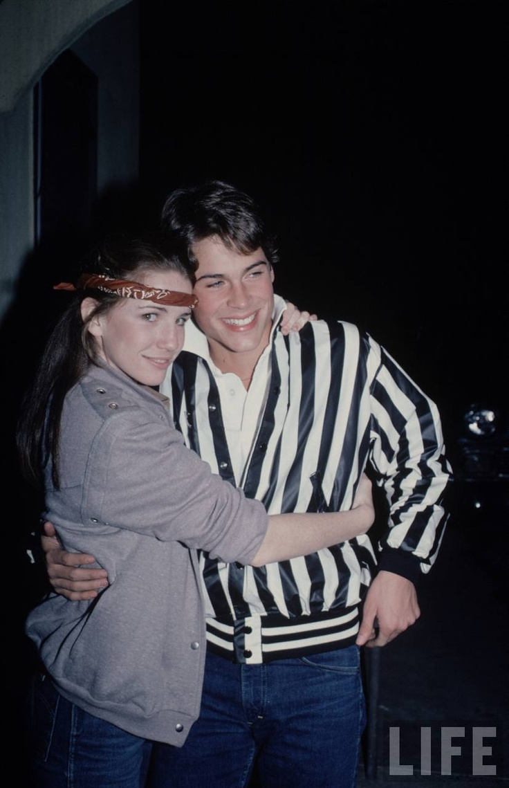 Melissa Gilbert and Rob Lowe. #Vintagecouple