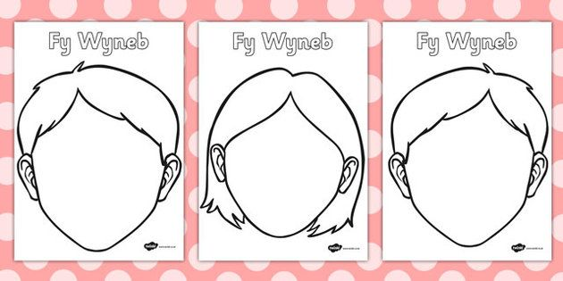 Blank Faces Templates Welsh Translation