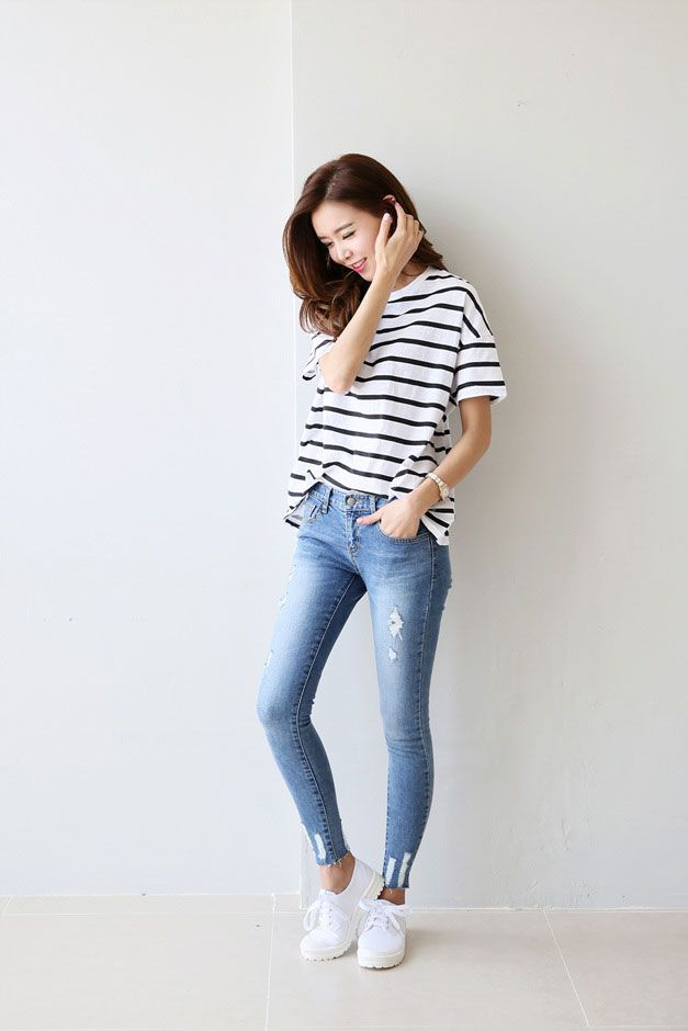 Best 25+ Skinny jeans converse ideas on Pinterest | Jeans converse outfit Korean casual fashion ...