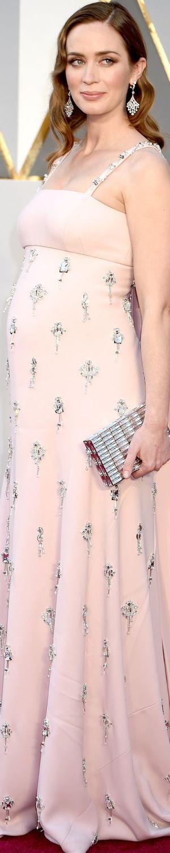 Emily Blunt wearing Prada at the 2016 Oscars