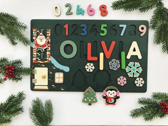 Personalisierte Weihnachtsgeschenk aus Holz Name Puzzle Baby Girl und Baby Boy Geschenk 1. B …   – Products