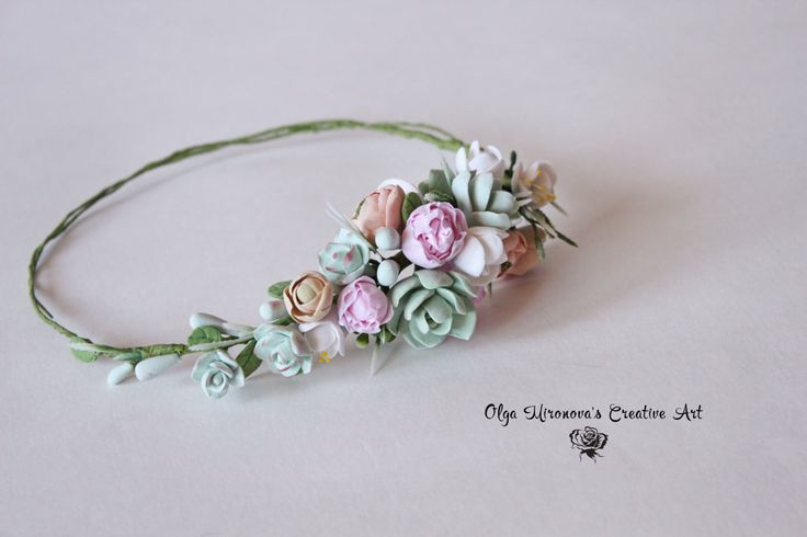 Gorgeous floral wreath with succulents, tiny peonies, freesias and ranunculuses Was made to order for Natalie in addition to her succulent peony bouquet I can make any headwreath you want, just send me a convo with your personal order