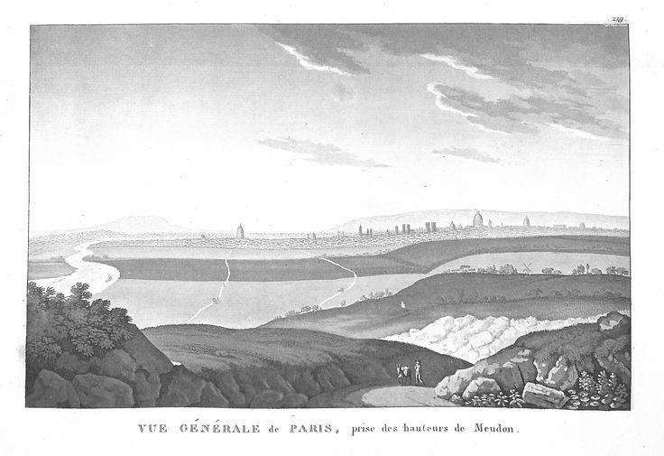 Vue Générale de Paris prise des hauteurs de Meudon - Paris en 1839 - pour J. de Marlès à Bruxelles
