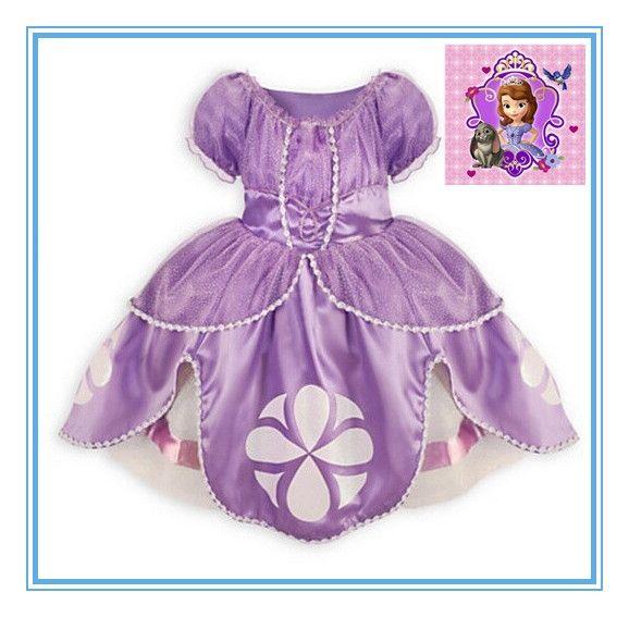 28.69$  Watch more here  - 2016 Princess sofia dress 2 colors costume vestido disfraz princesa sofia princesinha sofia the first roupas infantil meninas